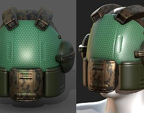 Helmet scifi military combat 3d model VR / AR ready