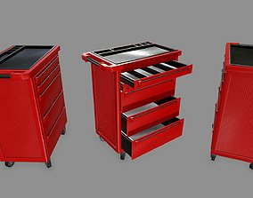 3D asset game-ready stall Cupboard
