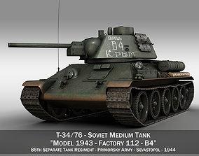 3D T-34-76 - Model 1943 - Soviet medium tank - B4