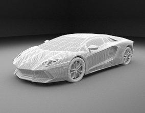 3D car-wheel Lamborghini Aventador