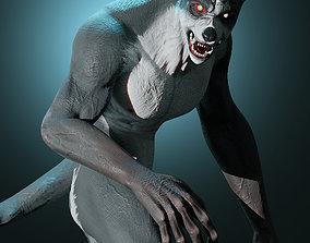 3D model rigged Werewolf