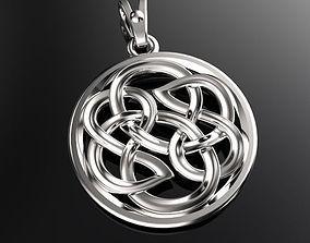 3D printable model Pendant with celtic ornament