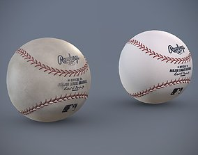 3D asset Rawlings Baseball - Clean and Dirty Variants