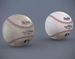 Rawlings Baseball - Clean and Dirty Variants 3D asset