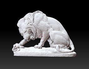 art Lion Statue 3D print model