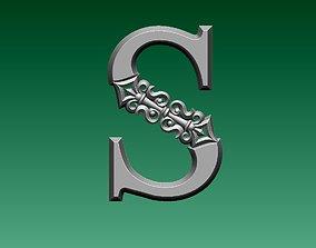 letter S 3D printable model
