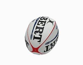 Rugby ball 3D asset