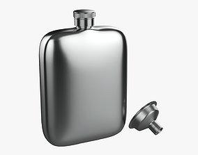 Liquor flask stainless steel 04 3D model