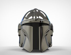 The Mandalorian Helmet 3d print model UPDATED