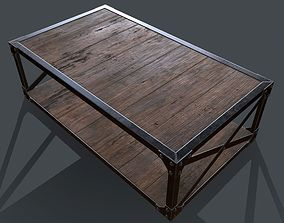 3D model Industrial Style Coffee Table for PBR Challenge 1
