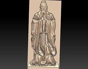 Confucius 3D character