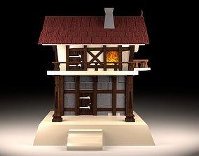 3D asset Basic Medieval Building - Low Poly