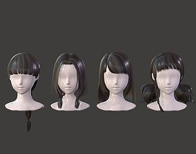The girl hair Restoring ancient ways braid Neat 3D model