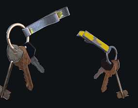 3D model VR / AR ready vault HQ PBR Keychain