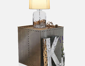 Kathy Kuo - Iron Cube Table 3D