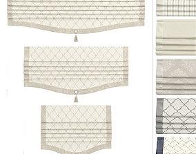 Roman Curtains Arissa 3D asset game-ready