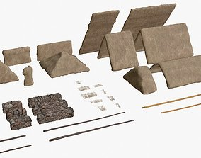 3D model Thatched House Modular Kit