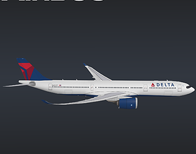 Airbus A330-900neo 3D Model animated