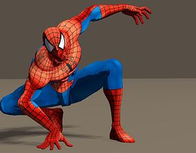 Spiderman from Marvel vs Capcom game Poser riggd 3D