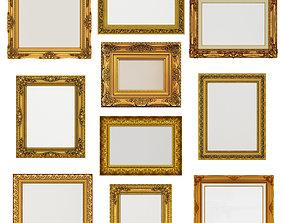 Collection of 3d models Frame picture gold v1
