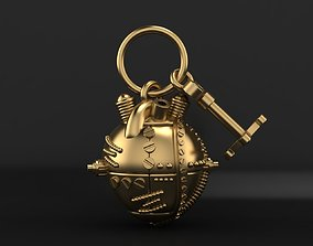 Mechanical heart pendant 3D printable model