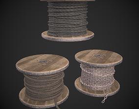 3D asset Rope Spool