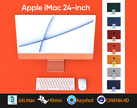 Apple iMac 24 - 2021 all colors 3D model keyboard mouse