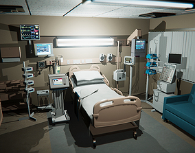hospital recovery room 3D model