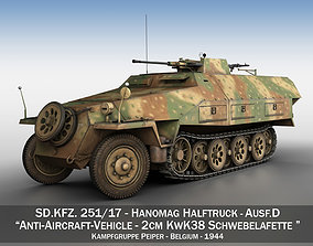 3D model SDKFZ 251 - Ausf D - Anti-Aircraft-Vehicle