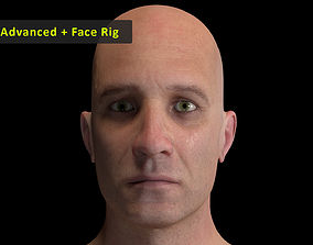 3D asset Cinematic Male 001 - Advanced Body - Face Rig -