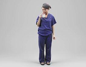 Human model Woman Nurse 03 3D