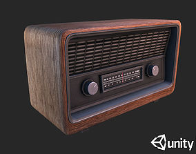 3D asset Retro Radio