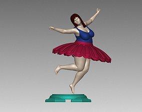 Female Woman Ballet poses N010 3D print model