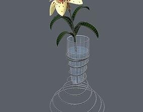 3D interior Lily in vase