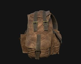 Bag leather Military 3D asset