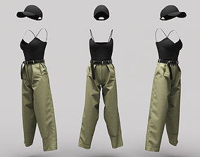3D asset Female Clothing 09