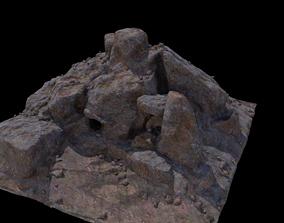 rock cave 3D asset