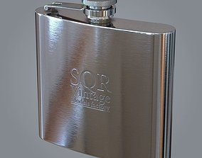 3D Whiskey flask