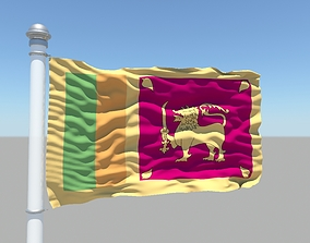 Sri Lanka flag 3D