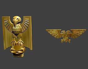 warhamer symbol 3D model