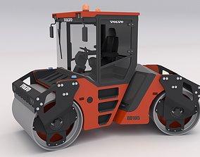 Volvo DD105 v2 Road Roller Compactor 3D model