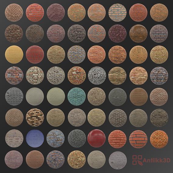Texture Pack 62 materials brick and stone walls