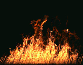 FumeFX Large Scale Fire 3D model animated