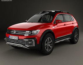 Volkswagen Tiguan GTE Active 2015 3D model