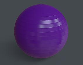 PBR Yoga Ball - Purple 3D model