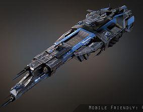Rhodes Battlecruiser 3D asset