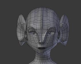 Alien Fish Woman BASE MESH 3D