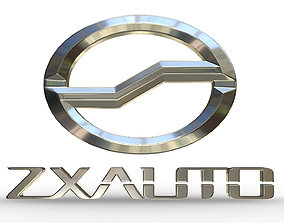 zxauto logo 3D model logotype
