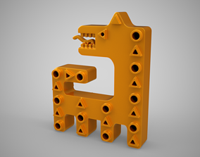 Abstract Dog Trinket 3D print model