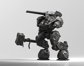 Kuznets Hammer Mech Miniature 3D printable model